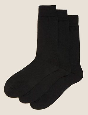 87990605be99d 3 Pack Merino Wool Rich Socks   M&S Collection   M&S