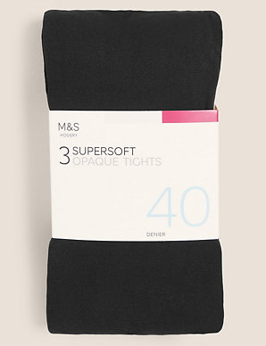 8a655514864ce 3 Pair Pack 40 Denier Opaque Tights | M&S Collection | M&S