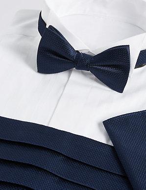 6969450d577de 3 Piece Bow Tie, Cummerbunds & Pocket Square Set | M&S Collection | M&S