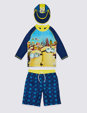 3b8143b07d941 3 Piece Despicable Me™ Minions Swimsuit (3-8 Years) | M&S