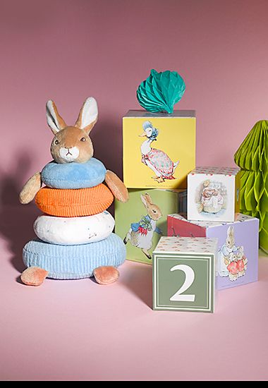 M&S Peter Rabbit stacking toy and building blocks
