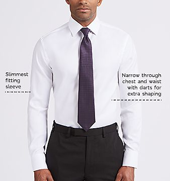Mens Dimensions Classic Grey Long Sleeve Point Collar Shirt Button Cuffs 16/'/'