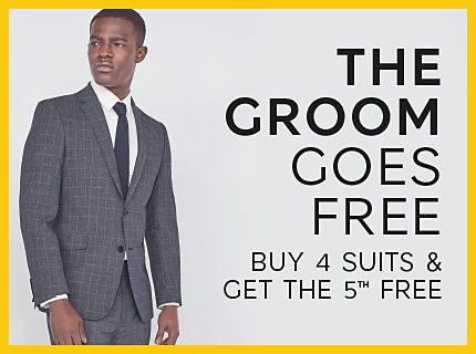 The groom goes free: buy four suits and get a fifth free