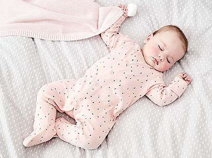 M&S baby sleepsuits