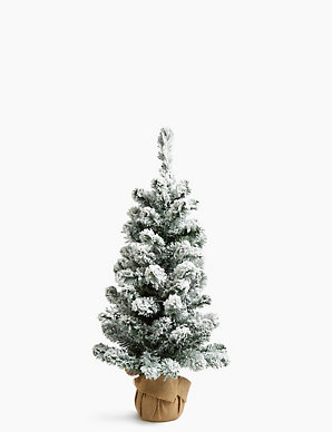 Snowy Christmas Tree.3ft Pre Lit Snowy Christmas Tree M S