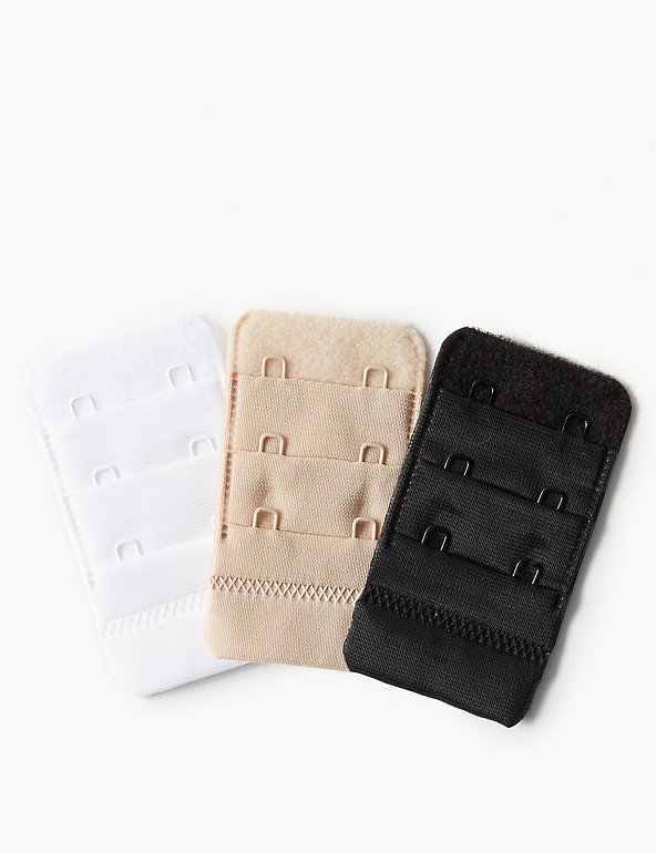2 Bra Strap Extension Extend Hook Stretchy Slide Rings Lingerie Fix Strap Colour