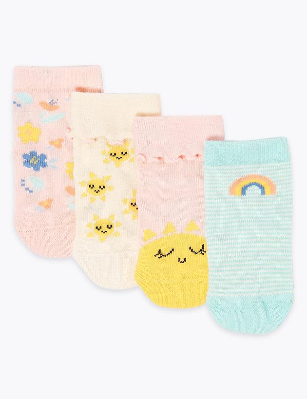 Toddler//Kid 0-8t Baby Boy Girl Socks 5 Pack Cotton Sock Set
