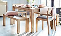 Paxton wooden dining table and chairs