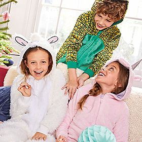 Kids wearing M&S onesies