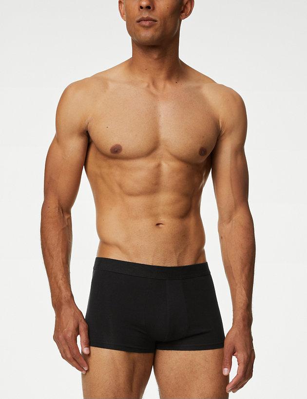 Hipster Unique Black Bloom Blossoms FlowersBoxer Briefs Mens Underwear Boys Breathable Stretch Low Rise