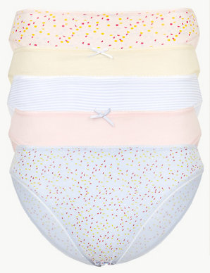 763299a28265 5 Pack Cotton Rich High Leg Knickers | M&S Collection | M&S