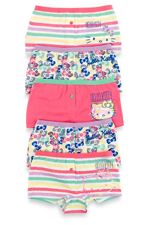 47351de55 5 Pack Hello Kitty Pure Cotton Assorted Boxers | M&S