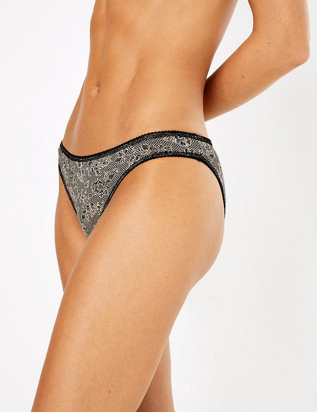 5 Pack Lace Print Bikini Knickers