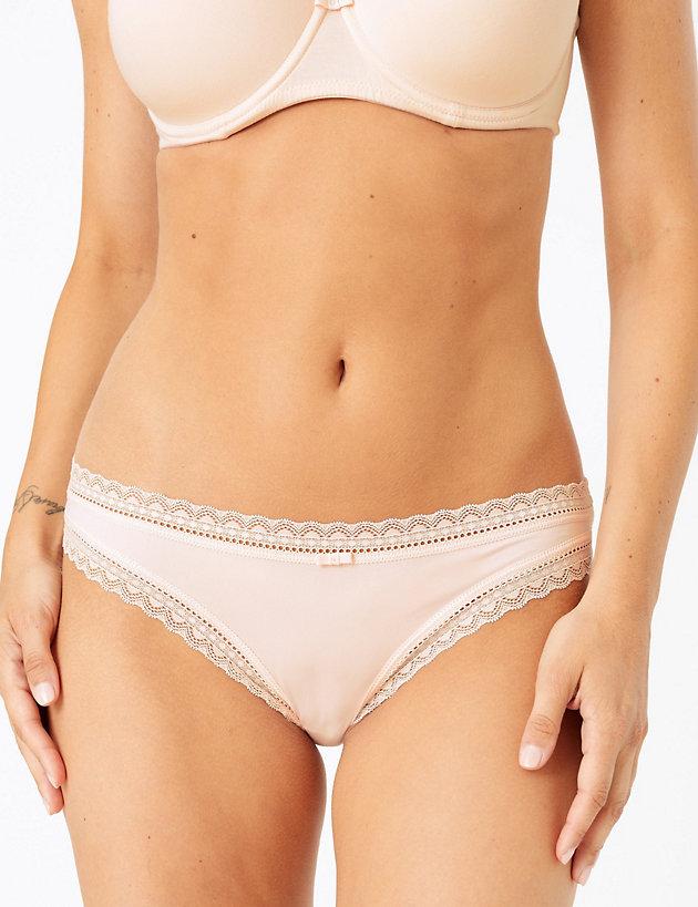 5 Pack Microfibre Star Print Bikini Knickers