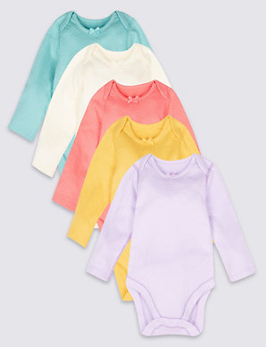 1d653b6229 5 Pack Pure Cotton Bodysuits