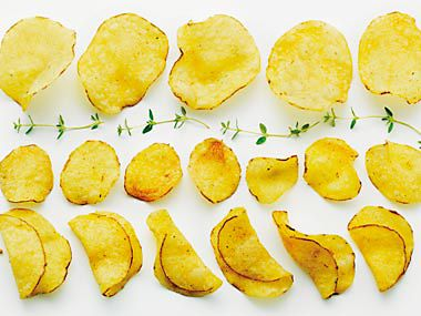 Crisps with herbs