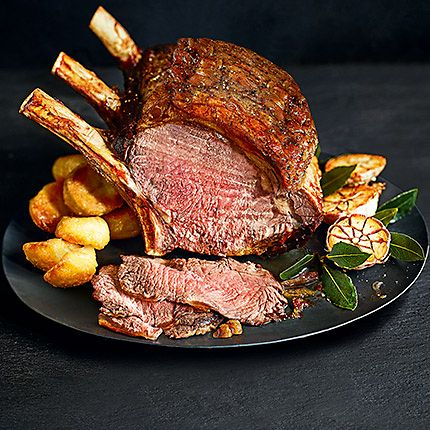 Roast beef on a plate with potatoes