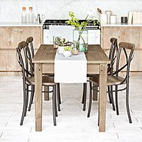 Sanford dining table and dining chairs