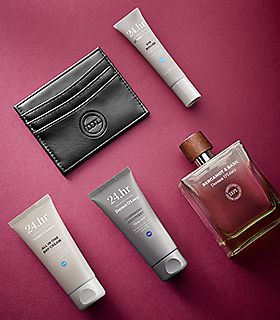 Selection of men's grooming gifts
