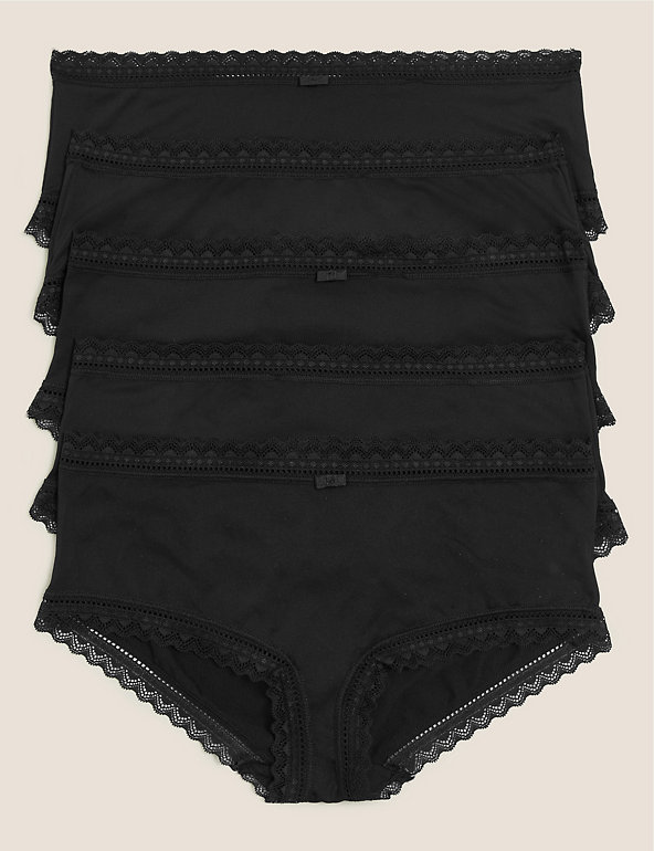 M/&S Collection Black Grey Sporty Lace Shorts size 26