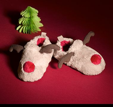 M&S Christmas reindeer slippers for baby girls and boys
