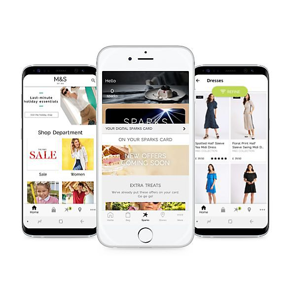 M&S on Mobile & Apps