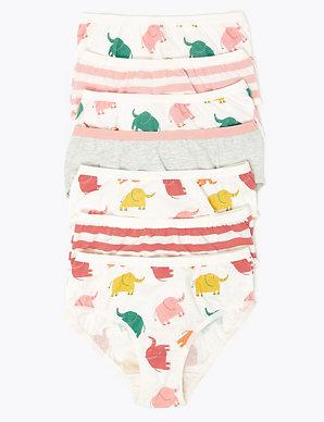 Infant Girls Bikinis Briefs Underwear Underpants 7 Pack Pairs Cotton Knickers