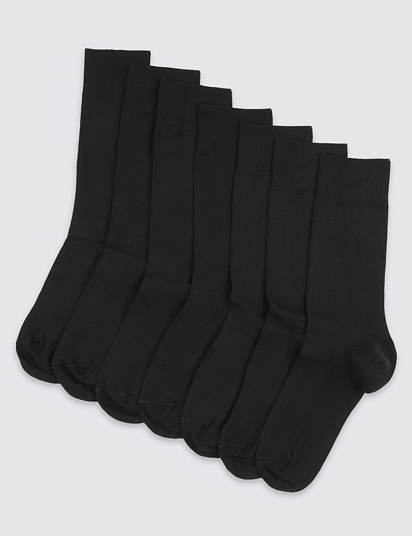 M/&S Mens Cotton Rich Casual Socks Pack Of 4 Size 10-12