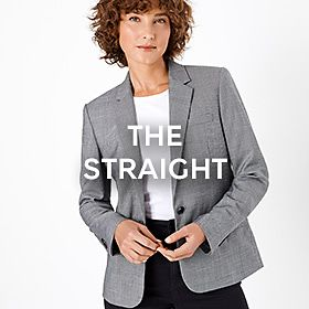 Woman wearing straight blazer