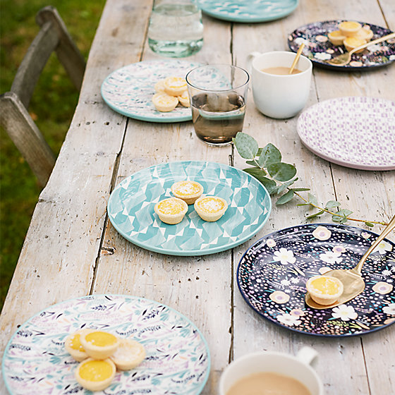 Tribeca patterned side plates & Mix things up with patterned side plates