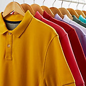 Men's polo shirts in a variety of colours