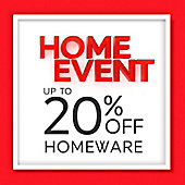 Home Event up to 20% off homeware banner