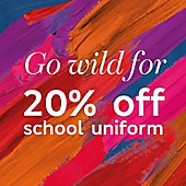 20% off school uniform