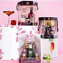 Three food and drink gift boxes