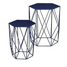Wire side tables