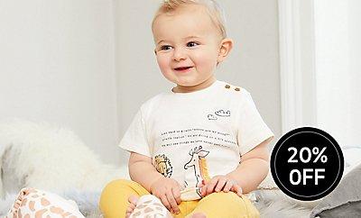 Profiteer van 20% korting op al onze prachtige babykleding