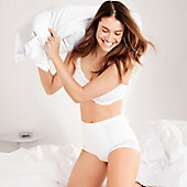 Woman in white bra and knickers