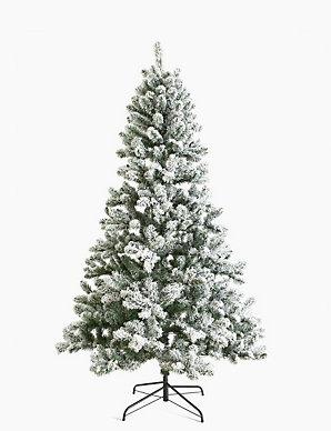 Snowy Christmas Tree.7ft Pre Lit Snowy Christmas Tree M S