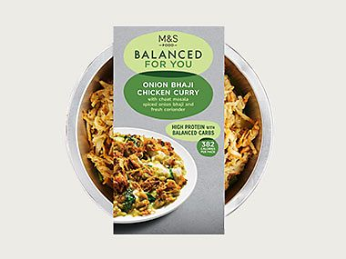 Balanced For You onion bhaji chicken curry