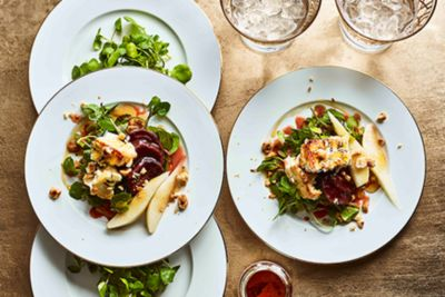 Pear and baked feta salad recipe recipe