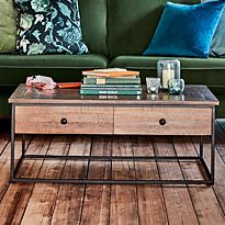 Coffee table with storage drawers