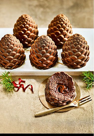 The Collection six chocolate pine cones