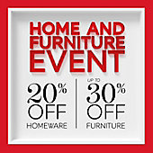 20% off Homeware and 30% off Furniture