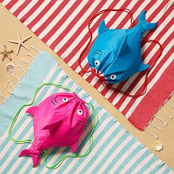 shark themed drawstring bags for kids