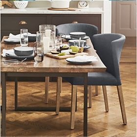 Sanford Parquet extending dining table and dining chairs
