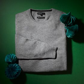 Grey cashmere men's jumper