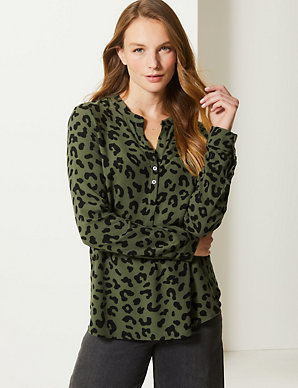 ff924585dc45 Animal Print Blouse | M&S Collection | M&S