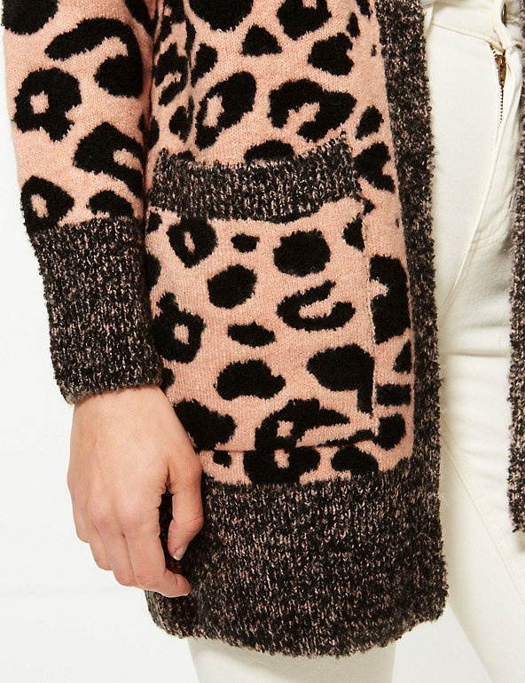 Animal Print Longline Cardigan | M&S Collection | M&S