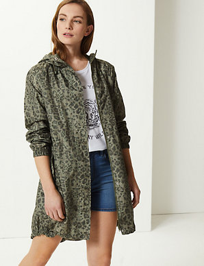 3b6c707f28e8 Animal Print Pack Away Parka | M&S Collection | M&S