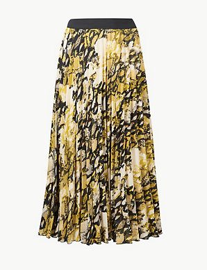 e45588bb8b68 Animal Print Pleated Midi Skirt | M&S Collection | M&S